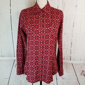 Roper Wear The West Snap Button Up Sz M Red Floral